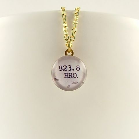 Dewey,Decimal,Necklace,823.8,Bronte,Jewelry,Bracelet,Cuff,wuthering_heights,literary_bracelet,gifts_for_writers,romantic,cathy_and_heathcliff,emily_bronte,book_quote,jezebelcharms,custom_quote_jewelry,love_quote,purple,mulberry,literature,brass,art,decoupage,handmade,metal,cuff,paper,book,w