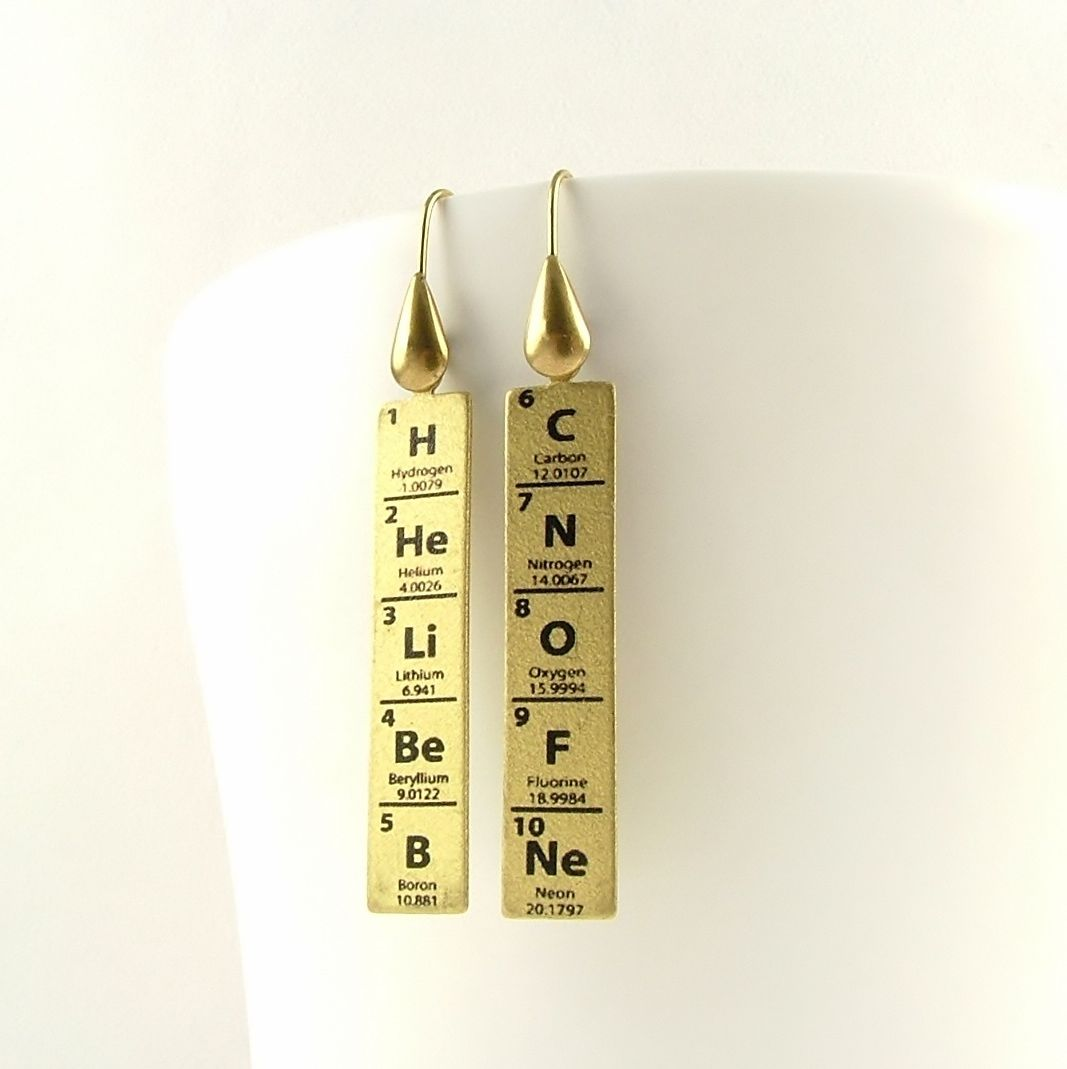 Periodic table of elements earrings jezebel charms periodic table of elements earrings product images of gamestrikefo Image collections