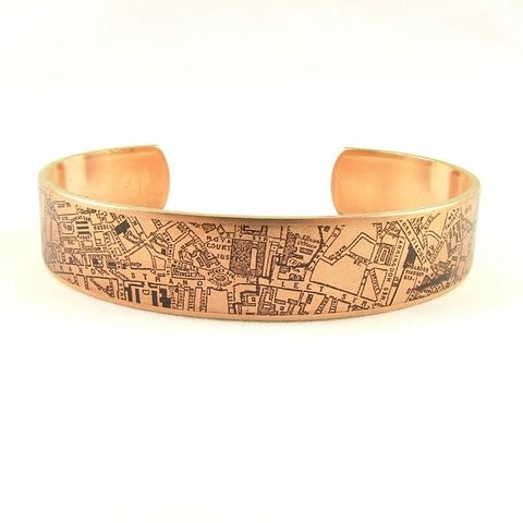 Antique,London,Map,Skinny,Cuff,Jewelry,Bracelet,england_london_uk,british_bracelet,london_england,steampunk_cuff,love_london,map_jewelry,vintage_map_london,river_thames,turquoise_blue,traveller_travel,railroads,roads_streets,queens_jubilee,brass,handmade,decoupage,art,paper,vintag