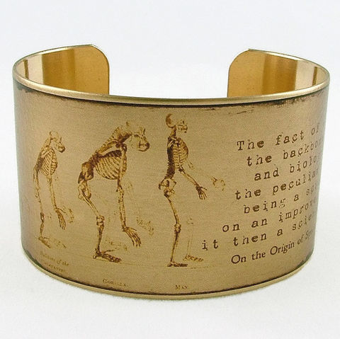 Charles,Darwin,On,The,Origin,Of,Species,Cuff,Jewelry,Bracelet,charles_darwin,evolution_of_man,science_jewelry,anthropology,writer,book_bracelet,doctor,gorilla,science_geekery,literature_jewelry,atheism,natural_history,brass_cuff_jewelry,brass,art,decoupage,handmade,paper,cuff,metal,book,pages,i