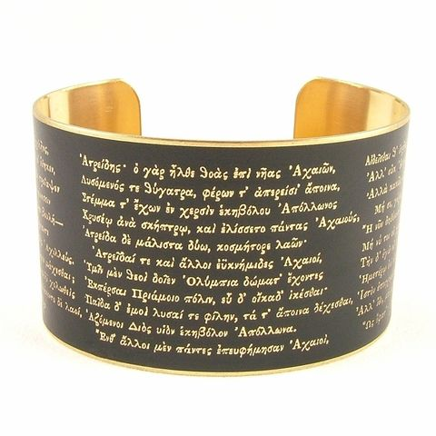 Homer's,The,Iliad,Cuff,Jewelry,Bracelet,literary_bracelet,troy, trojan war, achilles, book_cuff,quotation,greek_jewelry,ancient_greek_poem,the_odyssey,homer_poetic_works,greek_gods_goddesses,gifts_for_teacher,myths_and_legends,zeus_athena_poseidon,stormy_blue,world_travell