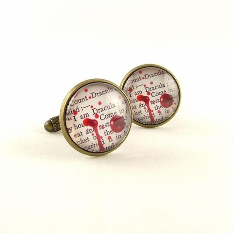 Dracula,by,Bram,Stoker,Cuff,Links,Jewelry,Bracelet,dracula,bram_stoker,crucifix,gothic,literary_jewelry,halloween,quote,blood_red,vampire,brass_jewelry,english_literature,gifts_for_writers,horror,brass,art,decoupage,handmade,paper,metal,cuff,book