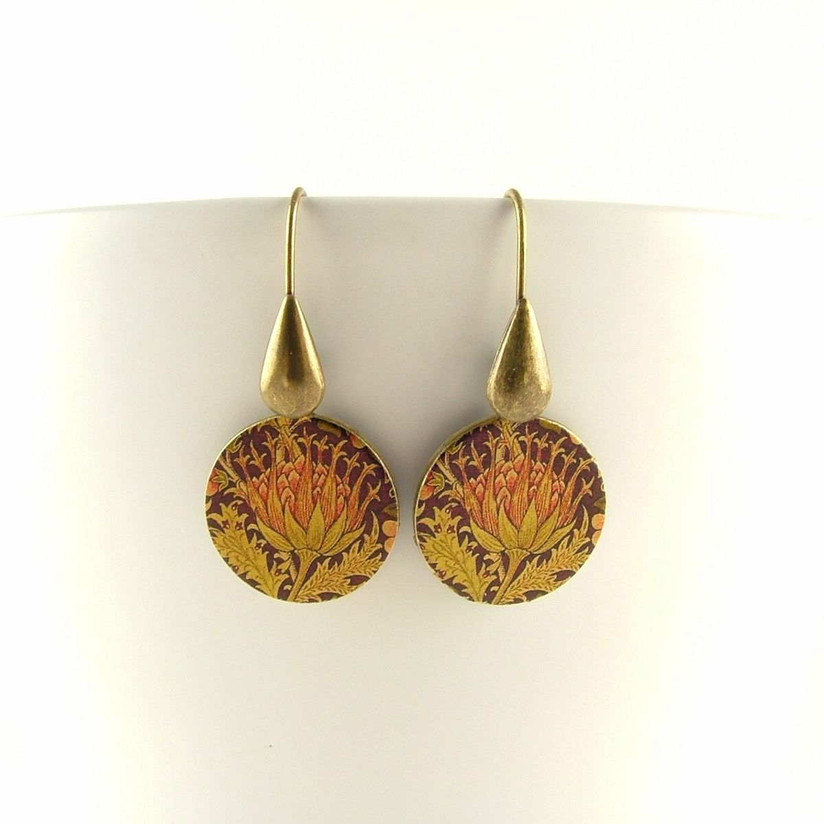 William Morris Artichoke Round Earrings - product images  of