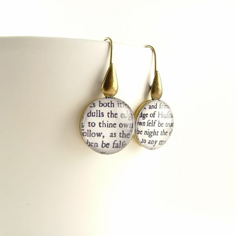 To,Thine,Own,Self,Be,True,Hamlet,Earrings,Jewelry,Necklace,Glass,quotation_pendant,quote_necklace,gifts_for_a_writer,literary_quotes,bibliophile_gifts,jezebel_charms,shakespeare_jewelry,william_shakespeare,old_english,midsummer_night,book_gifts,glass_pendant,book_jewelry,brass,art,decoupage,handm