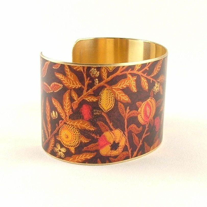William Morris Fruit Pomegranate Cuff - product images  of