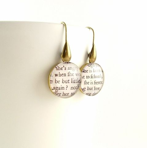 She,Is,Fierce,Earrings,Jewelry,Necklace,Glass,quotation_pendant,quote_necklace,gifts_for_a_writer,literary_quotes,bibliophile_gifts,jezebel_charms,shakespeare_jewelry,william_shakespeare,old_english,midsummer_night,book_gifts,glass_pendant,book_jewelry,brass,art,decoupage,handm