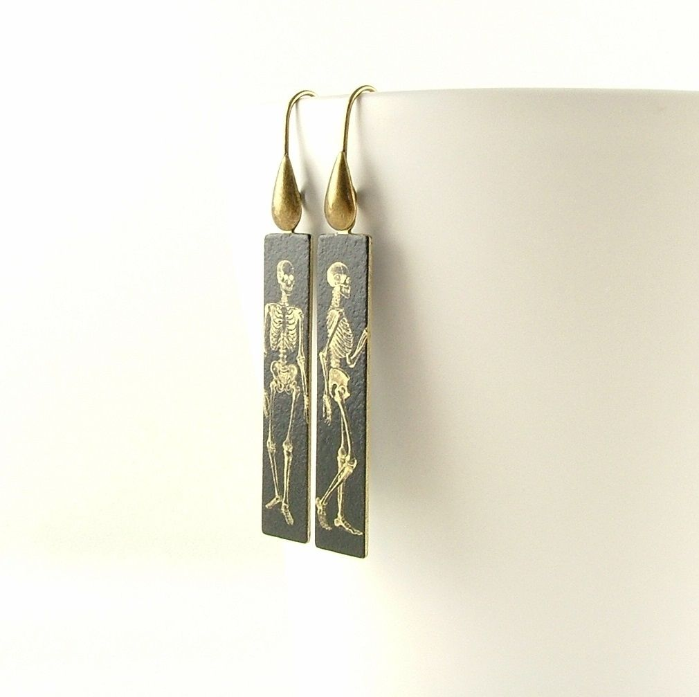 Anatomical Human Skeleton Earrings - product images  of