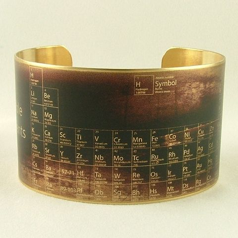 Chemical,Periodic,Table,Cuff,Jewelry,Bracelet,cuff_bracelet,biology,doctor,steampunk_cuff,chemistry_jewelry,periodic_table,chemicals_chemistry,doctor_gifts,antiqued_brown,geeky_nerdy_gifts,teacher,science,professor,handmade,brass,decoupage,art,paper,illustration