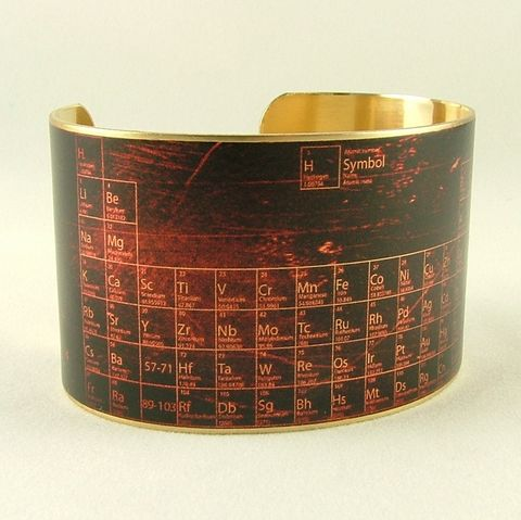Pharmacist,Gift,-,Periodic,Table,of,Elements,Cuff,Jewelry,Bracelet,cuff_bracelet,biology,doctor,steampunk_cuff,chemistry_jewelry,periodic_table,chemicals_chemistry,doctor_gifts,antiqued_brown,geeky_nerdy_gifts,teacher,science,professor,handmade,brass,decoupage,art,paper,illustration