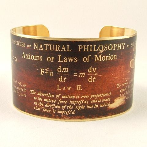 Sir,Isaac,Newton,-,Axioms,or,Laws,of,Motion,Mathematician,Cuff,Jewelry,Bracelet,cuff_bracelet,biology,doctor,steampunk_cuff,chemistry_jewelry,periodic_table,chemicals_chemistry,doctor_gifts,antiqued_brown,geeky_nerdy_gifts,teacher,science,professor,handmade,brass,decoupage,art,paper,illustration