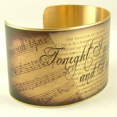 Phantom,Of,The,Opera,Cuff,by,Gaston,Leroux,Jewelry, Bracelet, Cuff, Literary, Quote, Brass Cuff Bracelet, Writer Gift, Romantic Fiction, Book Jewellery, Les Miserables, french book, Victor Hugo quote, Les Miserables book, brass cuff quote, Jezebel Charms, scarlet red,  brass, art, decou