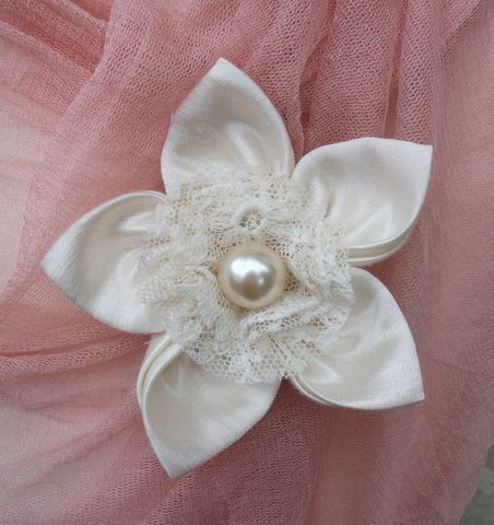 'Antoinette',Silk,Brooch,brooch,silk,wedding,hemp,ethical brooch,wedding accessory