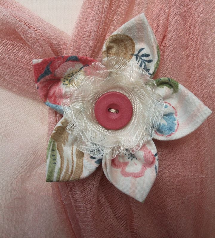 'Blossom' Vintage Cotton Brooch - product image