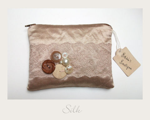 Gold,Purse,hemp silk, ethical purse,vintage purse,handmade in Britain, eco xmas gifts