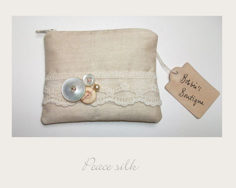 Blush,Coin,Purse,peace silk, ethical purse,coin purse,vintage purse,handmade in Britain, eco xmas gifts
