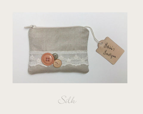 Oatmeal,Coin,Purse,hemp silk, ethical purse,coin purse,vintage purse,handmade in Britain, eco xmas gifts