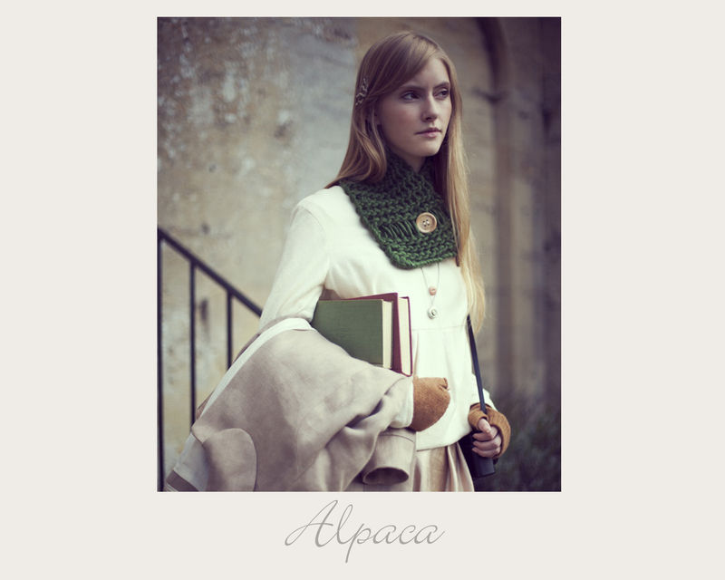 Holly Green Alpaca Scarf - product image