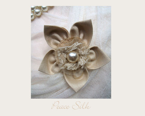 Peace,Silk,Brooch,brooch,silk,wedding,peace silk,ethical brooch,wedding accessory,eco