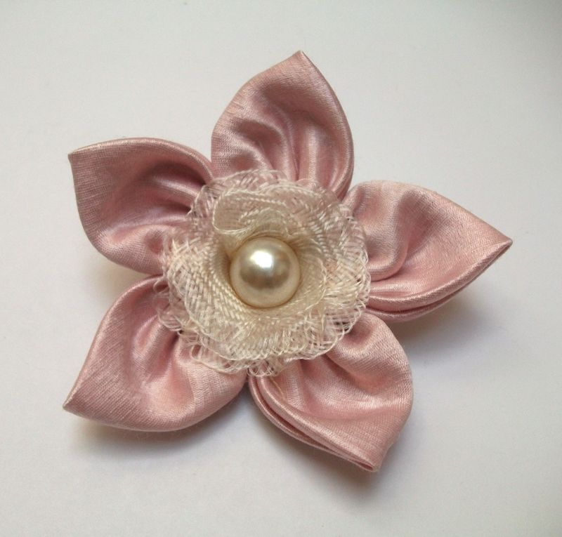'Pink Pastel' Silk Brooch - product images