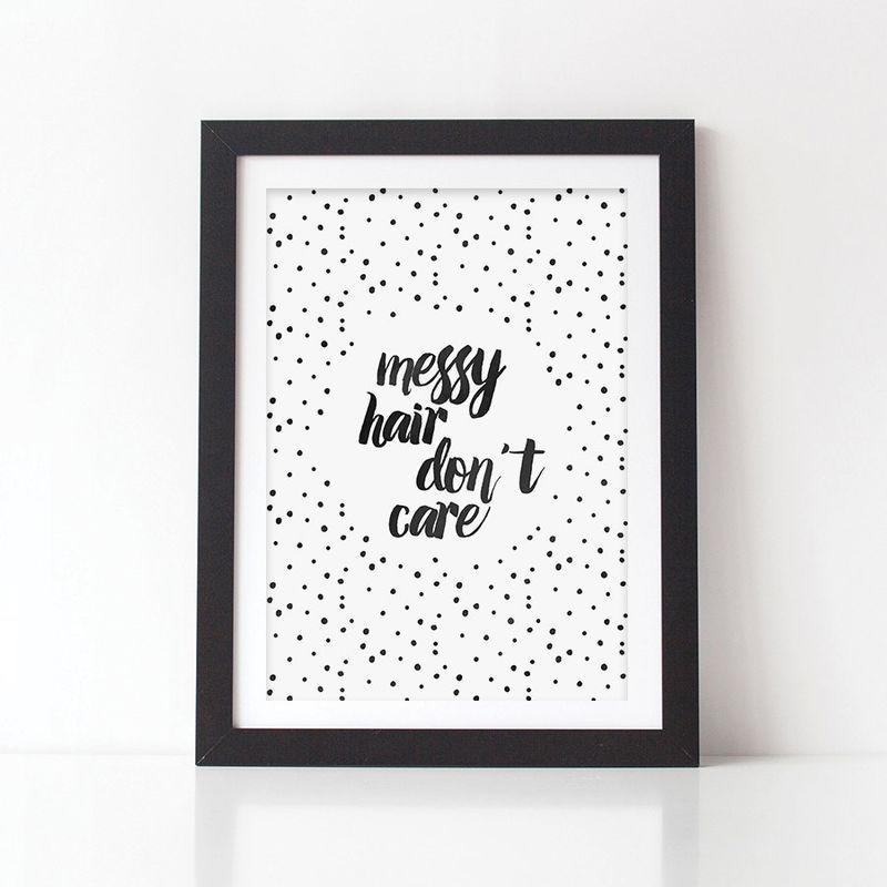 Messy Hair Donu0027t Care Print   Kids Art Print   Nursery Print   Bedroom