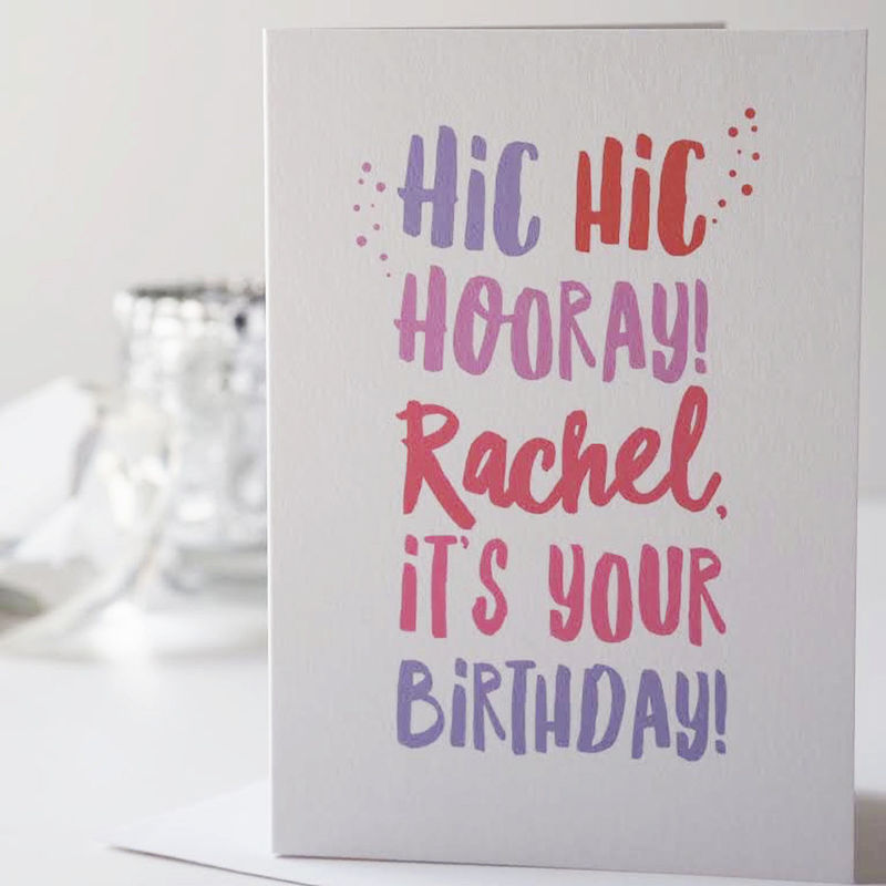 Hic hic hooray birthday card personalised happy birthday card hic hic hooray birthday card personalised happy birthday card birthday card for her bookmarktalkfo Image collections