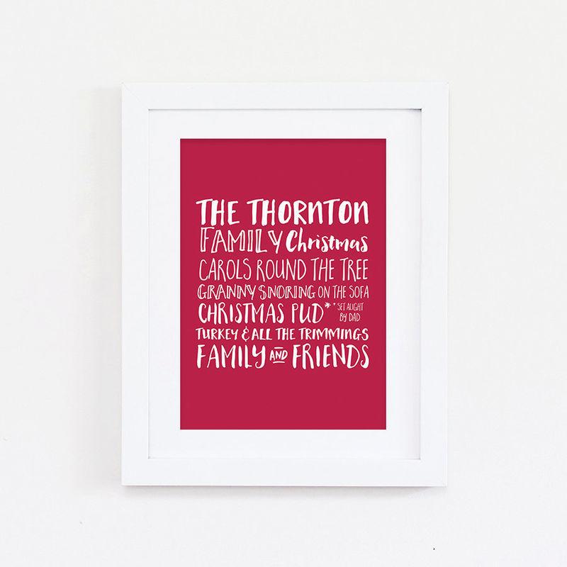 family christmas print personalised christmas print family print