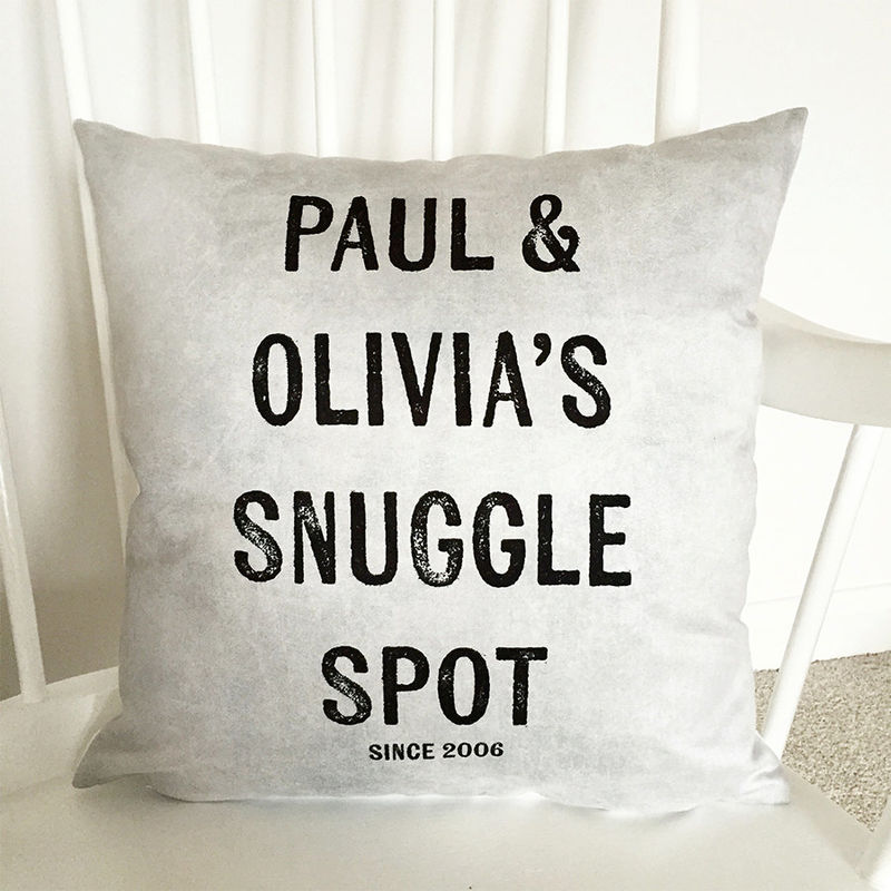 Snuggle Spot Cushion Couples Cushion Personalised Cushion New Home Gift Gift For