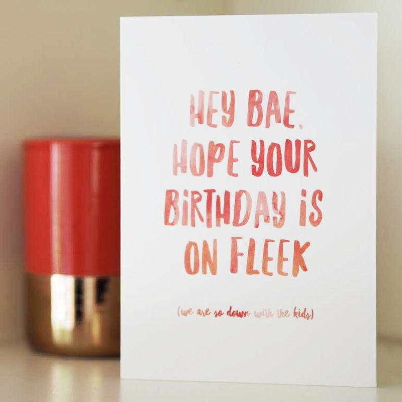 On Fleek Birthday Card Funny Birthday Card Birthday Card For Her