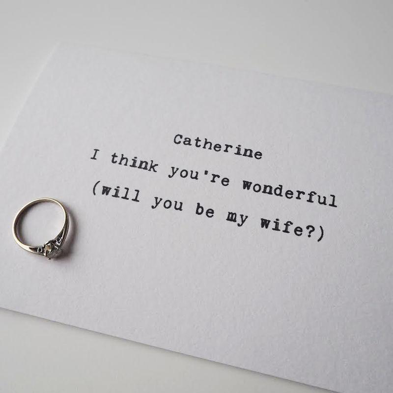 You Re Wonderful: You're Wonderful Personalised Proposal Card