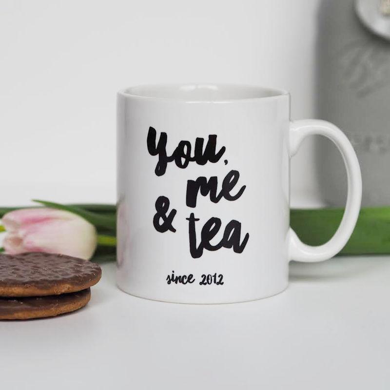 You, Me and Tea Mug - Personalised Mug - Valentine's Gift - Anniversary Gift ...
