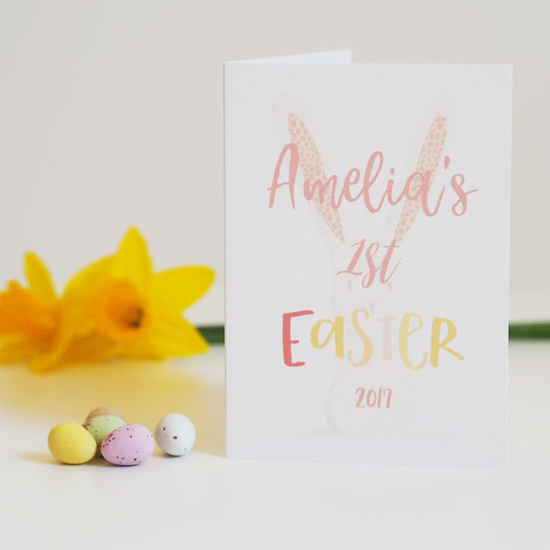 Babys first easter card easter card personalised easter card babys first easter card easter card personalised easter card product images of negle Image collections