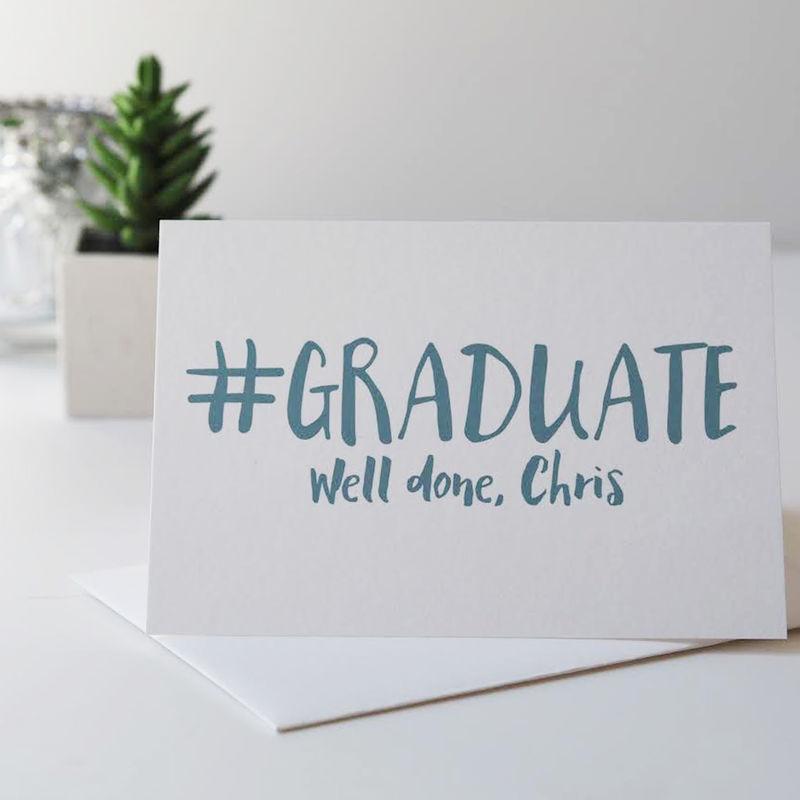 Personalised Graduation Card Congratulations Card Graduation