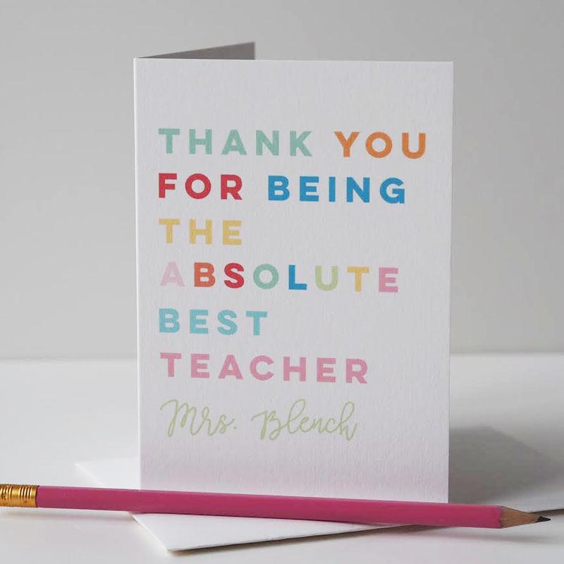 Absolute Best Teacher Card Teaching Assistant Card Thank You Teacher Card Thank You Card Teacher Card End Of School Card End Of Term Card