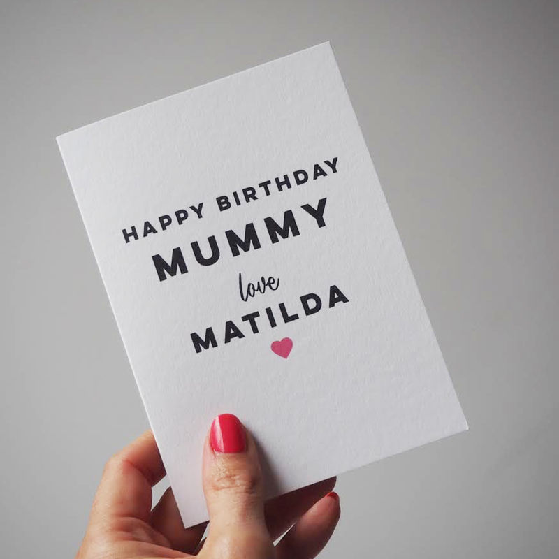 Personalised Happy Birthday Card For Mummy