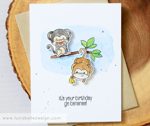 Birthday Monkeys Luna Belle Design