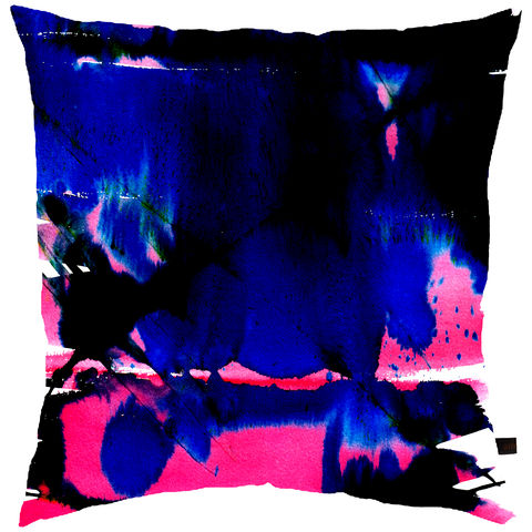 Waterfall,Blue,cushion, digital print, printed cushion, amy sia cushion, amy sia