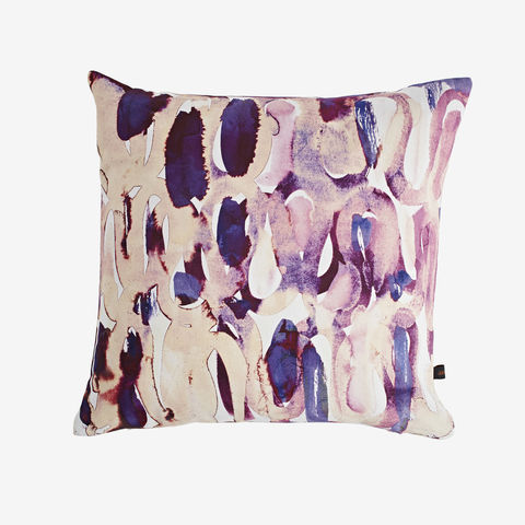 SOLD,OUT,Nocturne,Plum,Cushion,cushion, digital print, printed cushion, amy sia cushion, amy sia, cushion, watercolour, watercolour cushion, abstract cushion, watercolour abstract cushion, painterly cushion, made in the uk, made in britain, orange cush