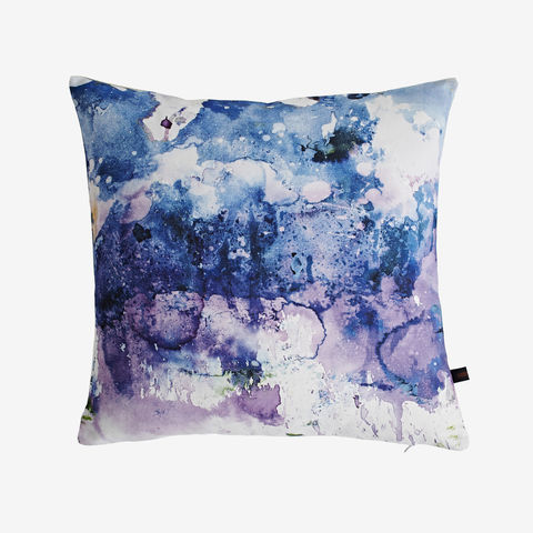 Dive,Cushion,cushion, digital print, printed cushion, amy sia cushion, amy sia, cushion, watercolour, watercolour cushion, abstract cushion, watercolour abstract cushion, painterly cushion, made in the uk, made in britain