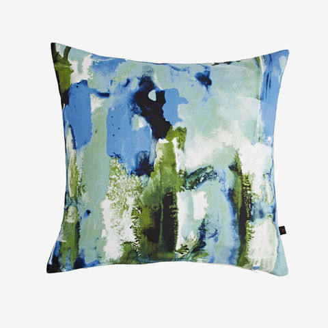 Maui,Cushion,green cushion, blue cushion, digital print, printed cushion, amy sia cushion, amy sia, cushion, watercolour, watercolour cushion, abstract cushion, watercolour abstract cushion, painterly cushion