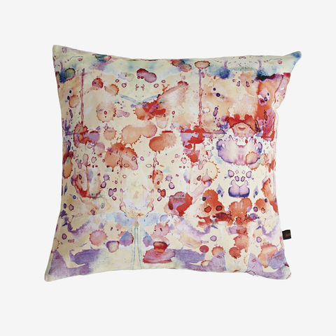 Rorschach,Cushion,digital print, printed cushion, amy sia cushion, amy sia, cushion, watercolour, watercolour cushion, abstract cushion, watercolour abstract cushion, painterly cushion