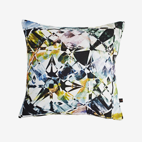 Fractured,Crystal,Cushion,digital print, printed cushion, amy sia cushion, amy sia, cushion, watercolour, watercolour cushion, abstract cushion, watercolour abstract cushion, painterly cushion