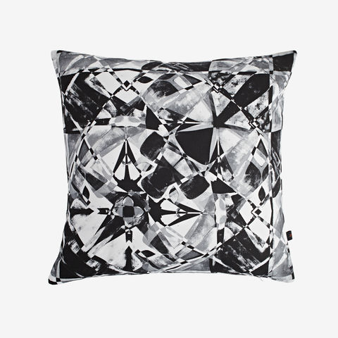 Fractured,Charcoal,Cushion,monochrome, black and white, digital print, printed cushion, amy sia cushion, amy sia, cushion, watercolour, watercolour cushion, abstract cushion, watercolour abstract cushion, painterly cushion