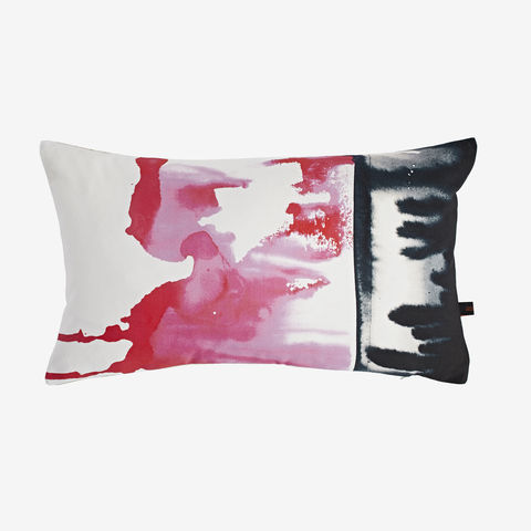 Miami,Cushion,hot pink cushion, digital print, printed cushion, amy sia cushion, amy sia, cushion, watercolour, watercolour cushion, abstract cushion, watercolour abstract cushion, painterly cushion