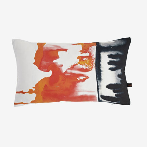 SOLD,OUT,Miami,Sun,Cushion,orange cushion, digital print, printed cushion, amy sia cushion, amy sia, cushion, watercolour, watercolour cushion, abstract cushion, watercolour abstract cushion, painterly cushion
