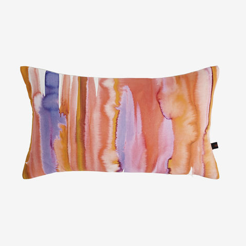 Dusk,Cushion,purple cushion, pink cushion, stripey cushion, orange cushion, digital print, printed cushion, amy sia cushion, amy sia, cushion, watercolour, watercolour cushion, abstract cushion, watercolour abstract cushion, painterly cushion