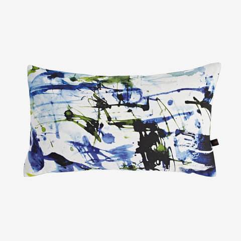 Hawaii,Cushion,digital print, printed cushion, amy sia cushion, amy sia, cushion, watercolour, watercolour cushion, abstract cushion, watercolour abstract cushion, painterly cushion