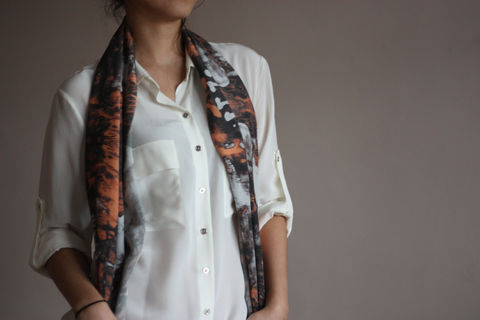 Obsession,Silk,Scarf,digitally printed digital print scarves silk scarf luxury designer abstract printed crepe de chine 100% silk