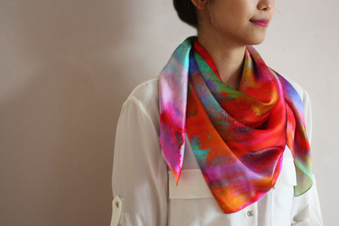 SOLD,OUT,Dreaming,Silk,Scarf,silk scarf, silk, silk scarves, digitally printed scarf, digital print scarf, abstract print scarf, satin scarf, 100% silk scarf, silk satin scarf, abstract silk scarf, digitally printed silk