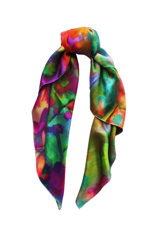 SOLD OUT Jungle Floral Silk Scarf - product images  of