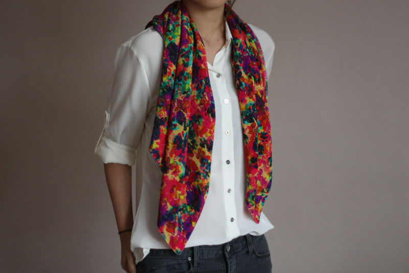 Floral Explosion Silk Scarf - product images  of 